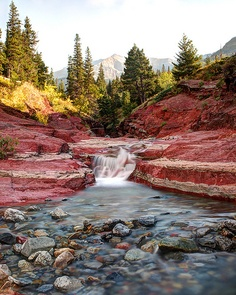Red Rock Canyon in Waterton Lakes National Park, Alberta_ Canada Places To Travel, Places To See, Spring Mountain Ranch, Waterton Lakes National Park, Canada Destinations, Las Vegas Nevada, Canadian Rockies, Beautiful Places To Visit, Kirchen