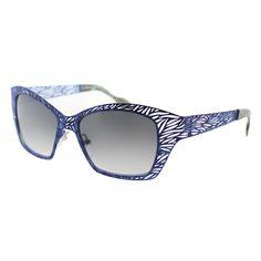 fc50c589d3b Lafont Lome 378 Blue Violet Metal Cat Eye Grey Gradient Lens Sunglasses