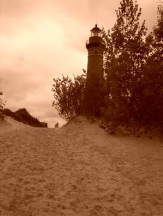 """A view from my camera lens - """"Beacon of Light"""" Lighthouse at Silver Lake, MI"""