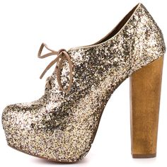 Steve Madden gold glitter lace up booties-love the understated heel.