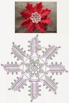 Watch This Video Beauteous Finished Make Crochet Look Like Knitting (the Waistcoat Stitch) Ideas. Amazing Make Crochet Look Like Knitting (the Waistcoat Stitch) Ideas. Crochet Leaves, Crochet Motifs, Knitted Flowers, Form Crochet, Crochet Flower Patterns, Crochet Diagram, Crochet Stitches Patterns, Crochet Chart, Thread Crochet