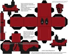 2 by JagaMen on DeviantArt Deadpool Cubeecraft VER. 2 by JagaMen on DeviantArt Iron Man, Atelier Creation, Diy And Crafts, Crafts For Kids, Deadpool Movie, Star Lord, Paper Models, Paper Toys, Origami Paper