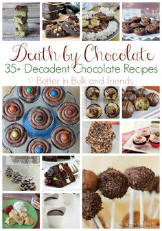 Death By Chocolate {A Collection of 35  Chocolate Recipes}