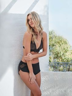 7b668252cc5 Amour Nuit Bralette and French Knicker worn by Brooke Hogan on location at  Gaelforce in Palm