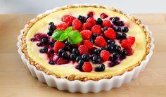 kuningatarpiirakka Sweet Pie, Low Fodmap, Cake Recipes, Cheesecake, Food And Drink, Healthy Recipes, Baking, Desserts, Pastries