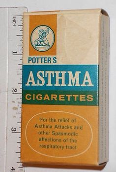 Potters Asthma Cigarettes - Yeah at one time it was believed that smoking could aid asthma! Funny Vintage Ads, Funny Ads, Vintage Humor, Vintage Posters, Old Advertisements, Retro Ads, Retro Advertising, Up Book, Medical History