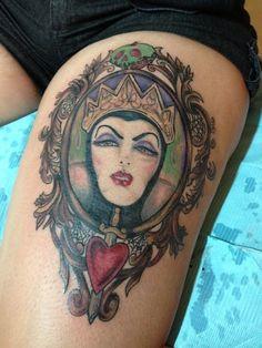 #tattoo #thigh #disney tattoo #villain #tumblr