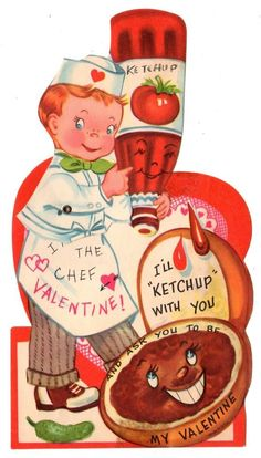 Image result for ketchup vintage valentine