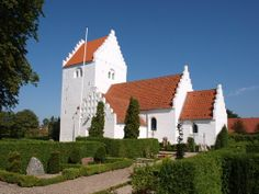 Gislinge Church, Sealand, Denmark. The church is typical for Danish church Buildings. This is from the period 1250-1350 and appears beautiful and rarely proportioned in the relationship between the nave, chancel, tower and porch.