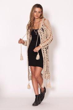 Casaco de abacaxi em crochê-Hendrix Jacket