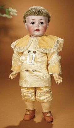 Bread and Roses - Auction - July 26, 2016: 359 German Bisque Character, 116A by Kammer and Reinhardt with Toddler Body