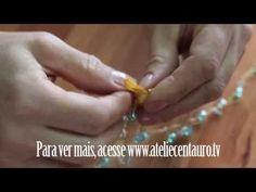 Colar de pérolas e crochê - Artesanato - Ateliê Centauro - Artesã Viviane Miranda - YouTube