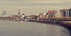 The Rhine and Altstadt in Dusseldorf, Germany