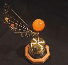 Handcrafted Orrery; Clockwork Solar System Model. | eBay