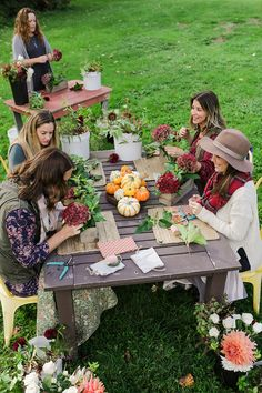 Host a Flower Arranging Class makes me think of you @mel You,Me,Andrea,Missy and Laura would have so much fun!