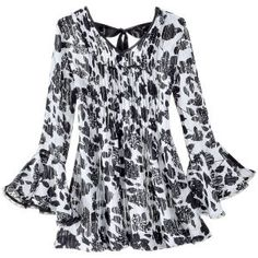 Black and White Tunic Top - New Age & Spiritual Gifts at Pyramid Collection