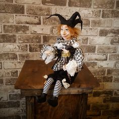 Art Doll - Fantasy Doll - Porcelain Doll - Artistic Doll  - Handmade - Doll - Collectible - Fantasy - Jester - Whimsical - OOAK Doll by Rustiikkitupa on Etsy