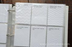 embossing folders storage of samples