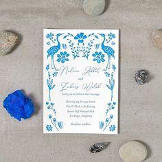 Letterpress Invitations Something Blue 1 Color Custom | Etsy Letterpress Invitations, Invitation Cards, Invites, Wedding Invitations, Blue Shades Colors, Blue Colour Palette, Garden Wedding Decorations, Reception Decorations, Art Deco Wedding