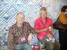 Brandon Mably and Kaffe Fassett - not so zen-quilts in Paris: avril 2009
