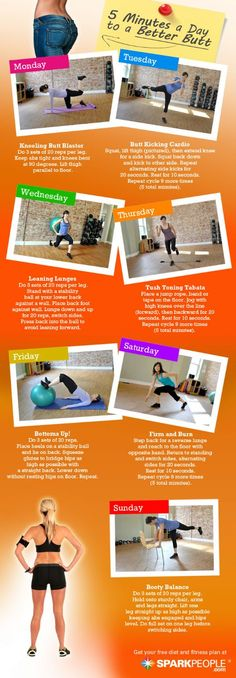 5 Minutes a Day to a Better via @SparkPeople #fitness #exercise #workout #glute #tone