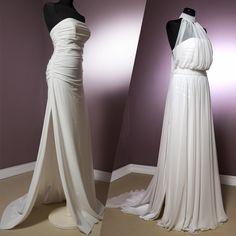 Fashion - Abiti da Sposa - Oreliete Spose... l'abito si fa in due tubino in jersey con sovrapposizione di georgette a pannelli