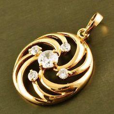 9k gold filled cz pendant