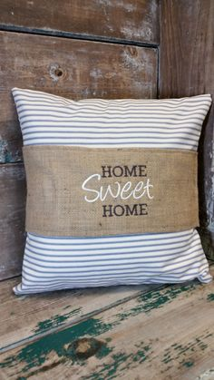 Home Sweet Home Rustic Pillow Wrap