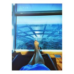 Put your feet up. Travel in comfort and style aboard Quantum of the Seas, there's more than enough deck chairs for everyone.