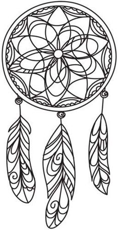 ☮ American Hippie Art ☮ Adult coloring page tattoo idea . Dreamcatcher: ☮ American Hippie Art ☮ Adult coloring page Free Printable Coloring Pages, Coloring Book Pages, Coloring Sheets, Simple Coloring Pages, 3d Zeichenstift, Dream Catcher Coloring Pages, Stylo 3d, Dreamcatcher Design, Mandalas Drawing