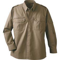Cabela S Serengeti Safari Ii Long Sleeve Shirt Tall At Cabela S Shirts Long Sleeve Shirts Casual Shirts For Men