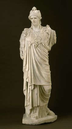 The Hope Athena. Italy, Ostia or Rome, Roman. 2nd century A.D. Roman copy after a Greek original of the 5th century B.C.  Marble | Los Angeles County Museum