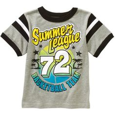 Nothing says summer like our new striped-sleeved graphic tees!