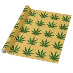 Weed Leaf Wrapping Paper | Zazzle
