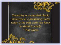 Spend Your Present Cash Flow