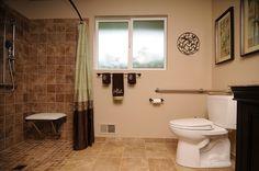 Idea for handicap bathroom....or for older parents/in laws