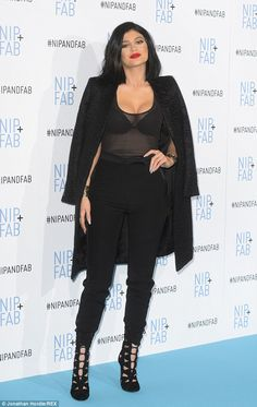Her time to shine: Kylie Jenner looked flawless as she attended the photocall for beauty b...