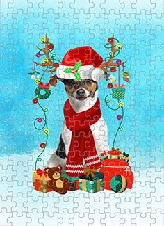 Jack Russell Terrier Dog in Snow Jigsaw Puzzle, Christmas, 1000 Pieces Jigsaw Puzzle PrintYmotion #Jack Russell Terrier #Dog Lovers gift #Christmas Gift #Christmas Puzzle Lovers Gift, Gift For Lover, Dog Lovers, Christmas Puzzle, Time Images, Love Challenge, Snow Dogs, Jack Russell Terrier, Retirement Gifts