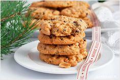 Mój ulubiony przepis na ciastka z masłem orzechowym i czekoladą. Kruche, lekkie z kawałkami orzechów i czekolady. Healthy Recipes, Healthy Food, Cookies, Drinks, Pistachios, Biscuit, Biscuits, Thermomix, Cakes