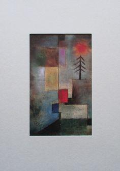 Kleines Bild eines Tannenbaums PAUL KLEE im Passepartout Kunstdruck art print
