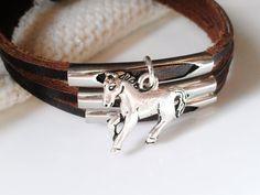 Horse Bracelet Leather Men Jewelry Women Guy by AbsoluteJewelry, $18.00
