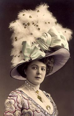 Vintage Picture of Woman with Huge Hat - Free Image