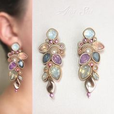 "124 aprecieri, 1 comentarii - Ana Sas (@anasasjewelry) pe Instagram: ""#fashionstatement #swarovskicrystals #swarovski #statementearrings #earrings #orecchini #cercei…"""
