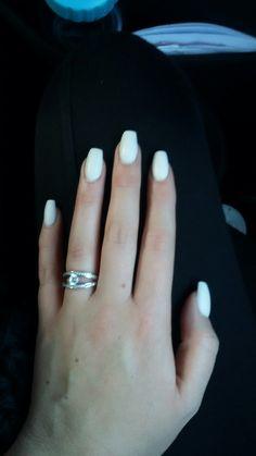 #matte #white #nails