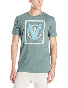 Volcom Mens V Entry Short Sleeve T-Shirt, Forest, Large