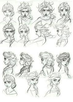 Personagens de Frozen, por Brittney Lee e Jin Kim Disney Sketches, Disney Drawings, Sketches, Character Design, Character Art, Drawing Sketches, Art, Movie Art, Character Design Disney