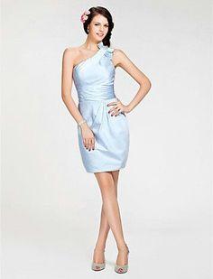 Sky blue maid of honor dress