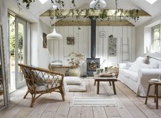 〚 Cozy summer house created by IKEA 〛 ◾ Photos ◾Ideas◾ Design Home Interior, Interior Design, Boho Deco, Living Area, Living Room, Cottage Living, Turbulence Deco, Farmhouse Remodel, Farmhouse Renovation