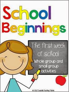 First week of school, whole group activities for friendship, work samples, beginning writing, morning work, and building classroom climate