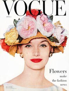 Vogue Magazine Cover April 1953 - Sunny Harnett by Irving Penn